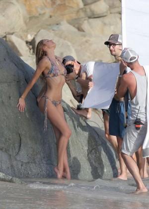 Candice Swanepoel - VS Bikini Photoshoot 2014 -04