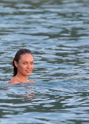 Candice Swanepoel - VS Bikini Photoshoot 2014 -08
