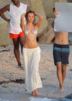 Candice Swanepoel - VS Bikini Photoshoot 2014 -21