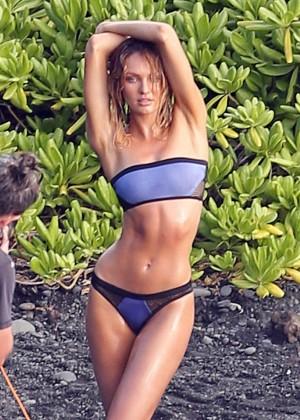 Candice Swanepoel: VS Bikini Shoot -01