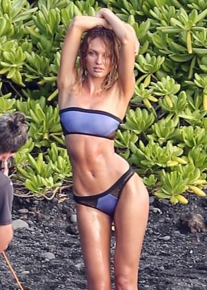 Candice Swanepoel: VS Bikini Shoot -08