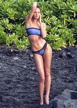 Candice Swanepoel: VS Bikini Shoot -15