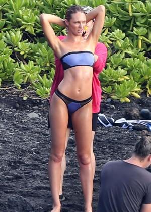 Candice Swanepoel: VS Bikini Shoot -18