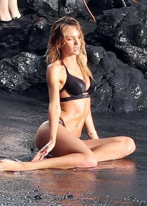 Candice Swanepoel: VS Bikini Shoot -19