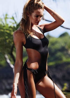 Candice Swanepoel - Victoria's Secret Swim Photoshoot 2014