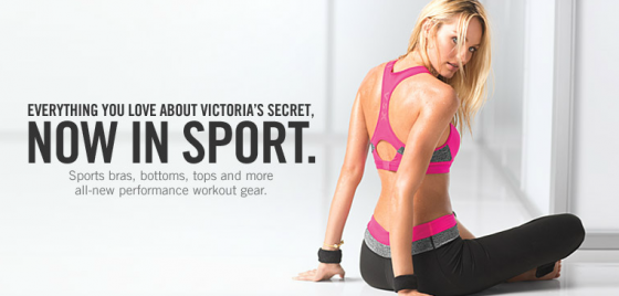 Candice Swanepoel in tightsfor Victorias Secret VSX Website