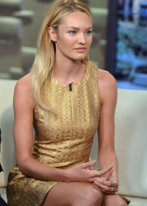 "Candice Swanepoel - visits ""FOX & Friends"" in NYC"