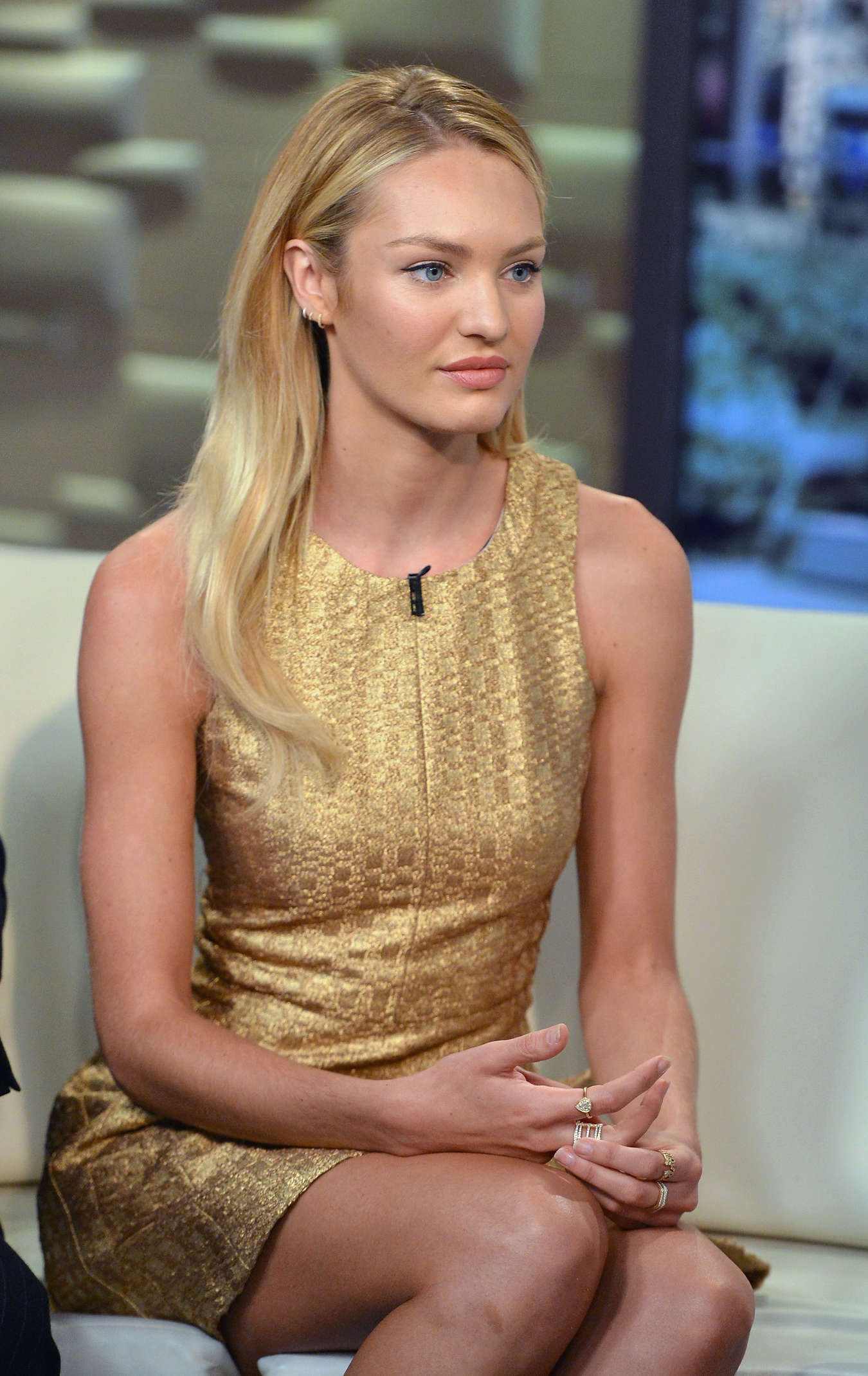 """Candice Swanepoel - visits """"FOX & Friends"""" in NYC"""