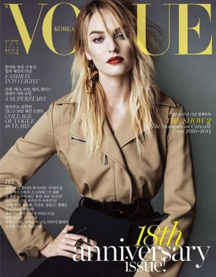 Candice Swanepoel Vogue Korea Cover Magazine August 2014
