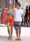 Candice Swanepoel - Show her long legs in a short shorts in Miami