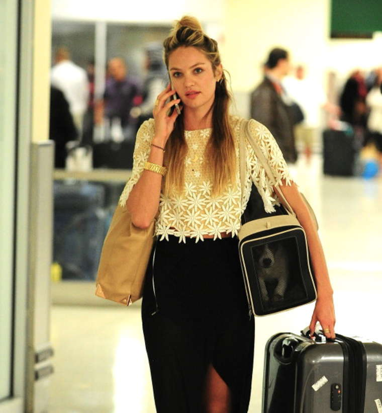 Candice Swanepoel Without Makeup At Jfk Airport Gotceleb