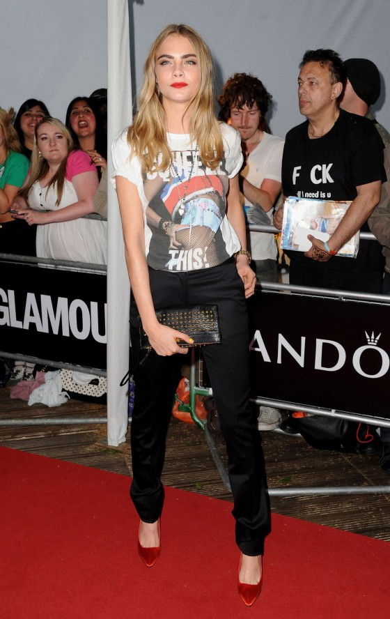 Cara Delevingne at 2013 Glamour Women Of The Year Awards -16