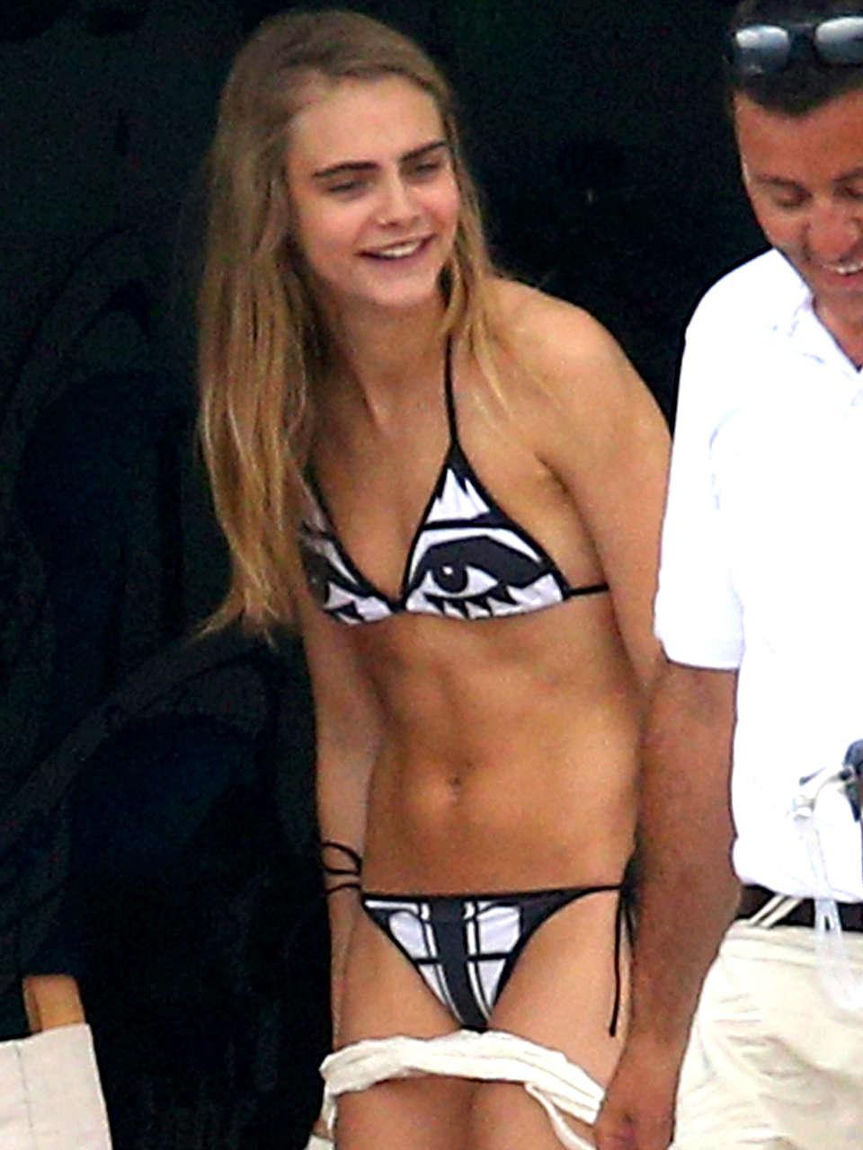Cara Delevingne in Bikini in Monaco-03 - GotCeleb