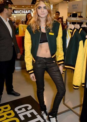 Cara Delevingne at DKNY Promotion in London