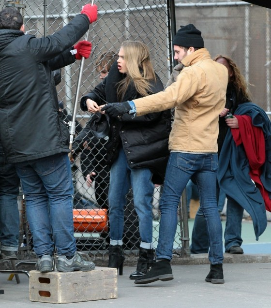 Cara Delevingne – PhotoShoot Candids in Greenwich Village -06