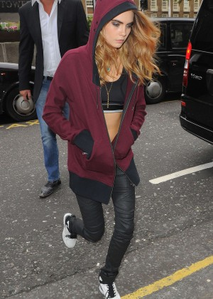 Cara Delevingne - Seen outside Harrods in London as part of a DKNY Promotion