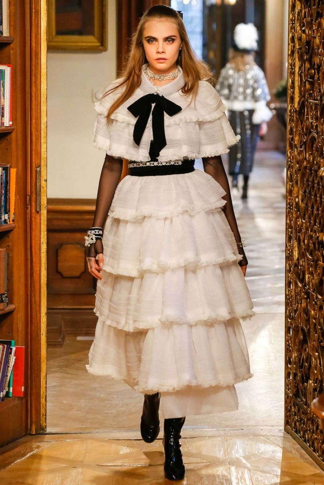 Cara Delevingne - Walking for Chanel Pre-Fall 2015