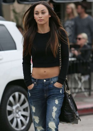Cara Santana in Jeans Leaves Alfred Coffee & Kitchen in Beverly Hills
