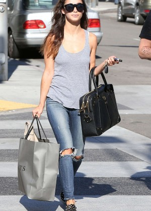 Cara Santana in Ripped Jeans out in LA
