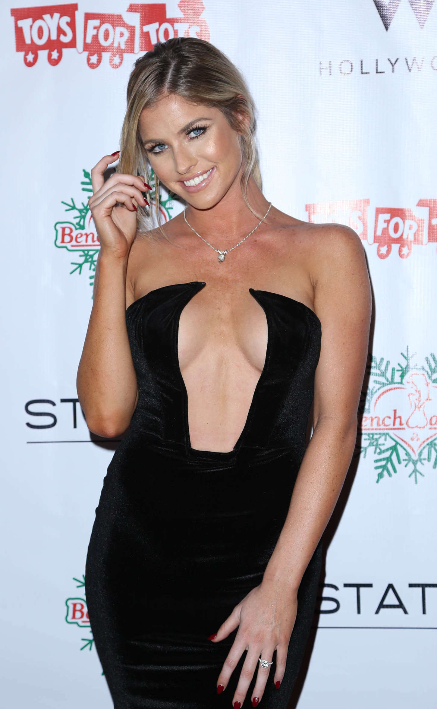 Carly Lauren - BenchWarmer 10th annual Winter Wonderland Toy Drive in Hollywood