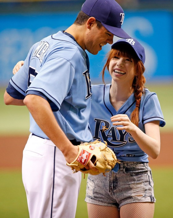Carly Rae Jepsen at Astros vs Rays game in St Petersburg -02