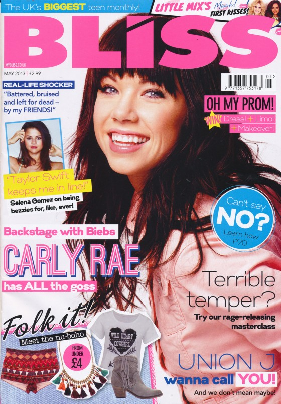 Carly Rae Jepsen - Bliss Magazine 2013 -07