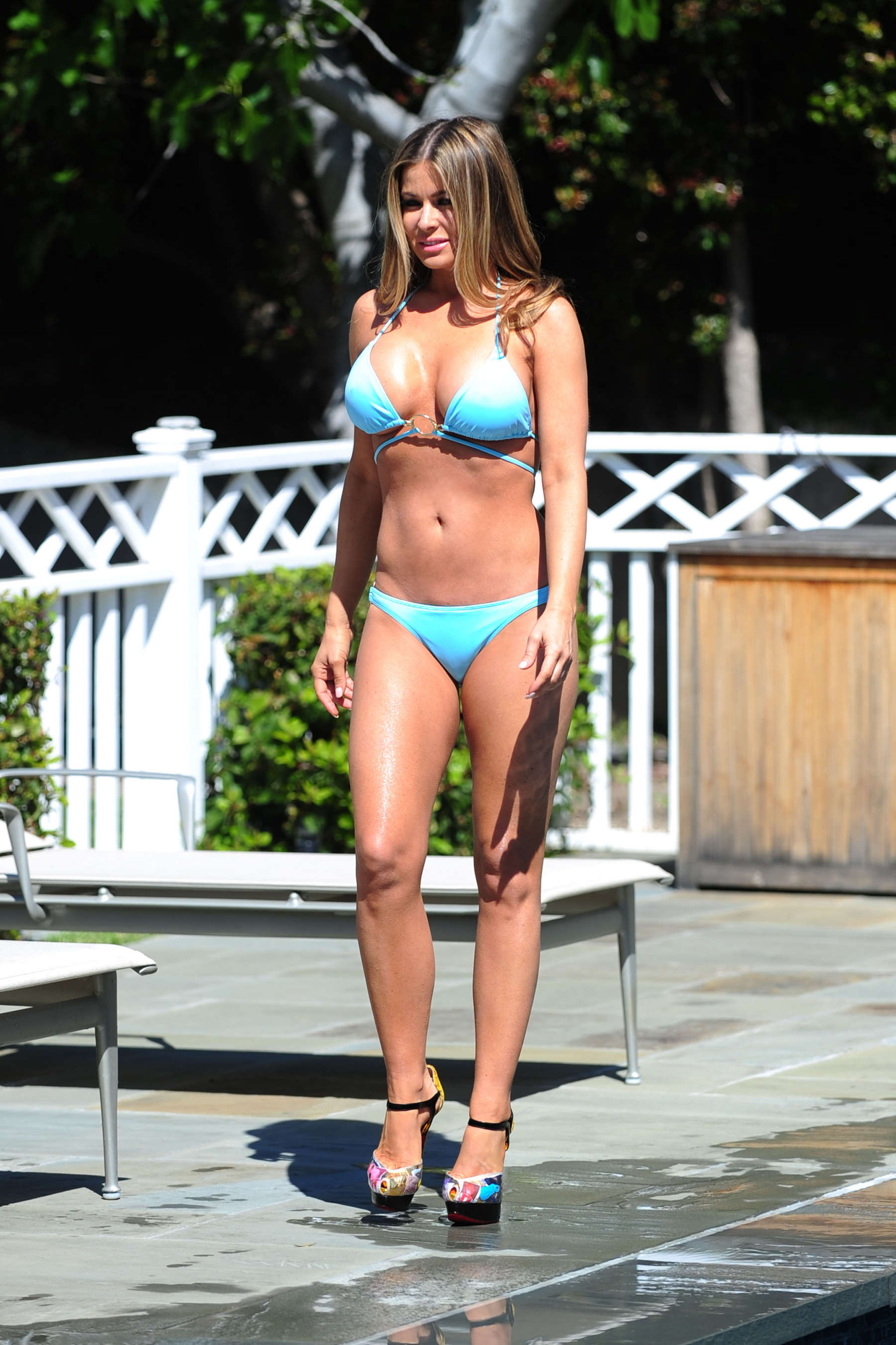Carmen Electra – Bikini photoshoot at her house in LA-24