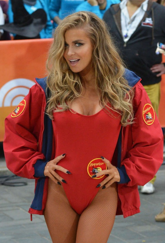 Carmen Electra in Swimsuit at NBC's Today Halloween 2013 in NYC