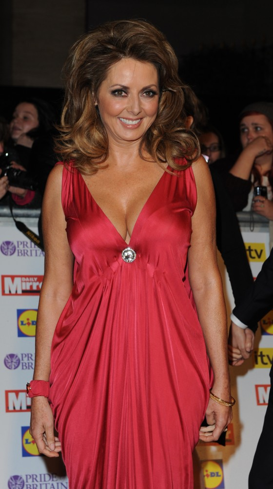 Carol Vorderman cleavage at The Pride of Britain Awards-07