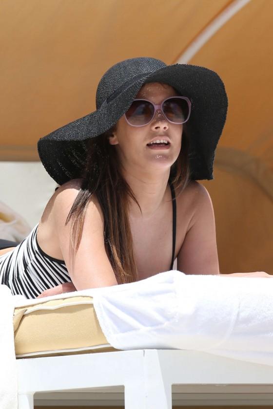 Caroline Flack bikini on Miami beach-10