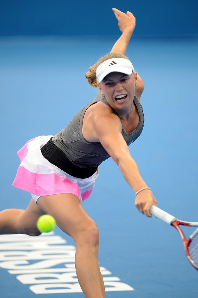 Caroline Wozniacki At Brisbane International 2012