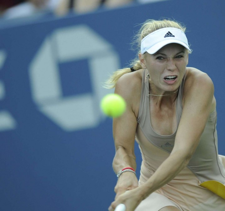 Caroline Wozniacki at U.S. Open 2014 tournament in New York