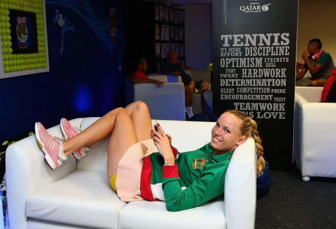 Caroline Wozniacki - Relaxes during Coca-Cola International Premier Tennis League in Delhi