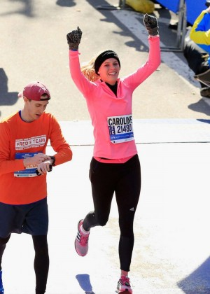 Caroline Wozniacki at 2014 TCS New York City Marathon