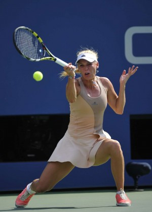 Caroline Wozniacki - US Open Semi Final Match in New York