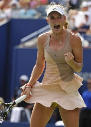 Caroline Wozniacki Us Open Semi Final Match In New York