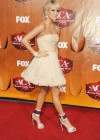 Carrie Underwood - White Dress at Country Awards-03