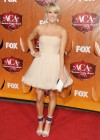 Carrie Underwood - White Dress at Country Awards-04