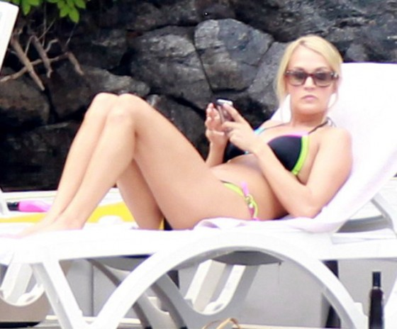 Carrie Underwood - Hot Bikini Candids at a lake in Canada