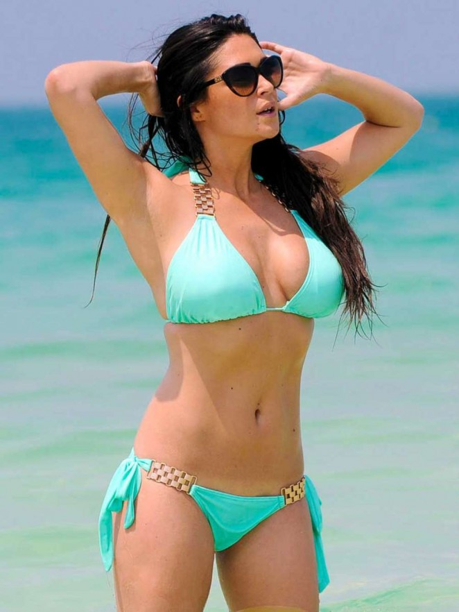 Casey Batchelor in Tiny Bikini on the Beach in Dubai