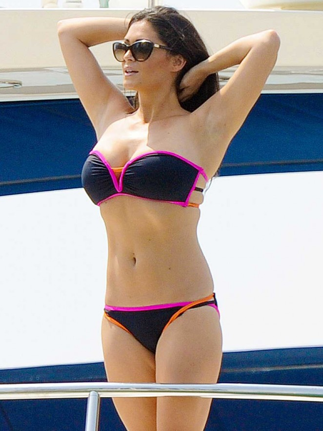 Casey Batchelor in Bikini on a Yacht in Ibiza