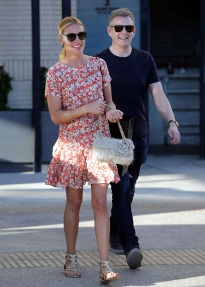 Cat Deeley in Floral Mini Dress out in Beverly Hills