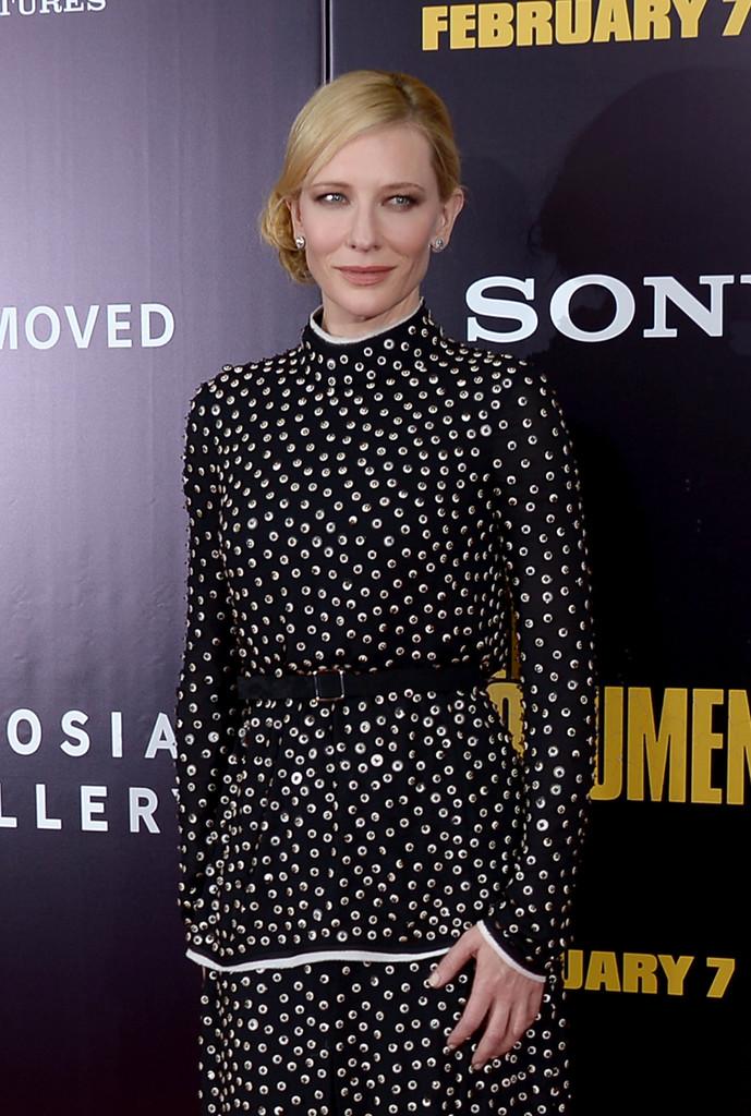 Cate Blanchett: The Monuments Men Premiere -03