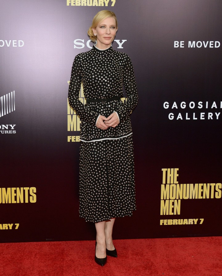 Cate Blanchett: The Monuments Men Premiere -05