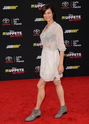 Catherine Bell: Muppets Most Wanted Premiere -01