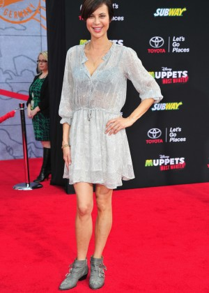 Catherine Bell: Muppets Most Wanted Premiere -03