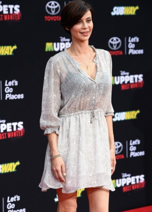Catherine Bell: Muppets Most Wanted Premiere -06
