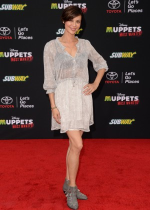 Catherine Bell: Muppets Most Wanted Premiere -07