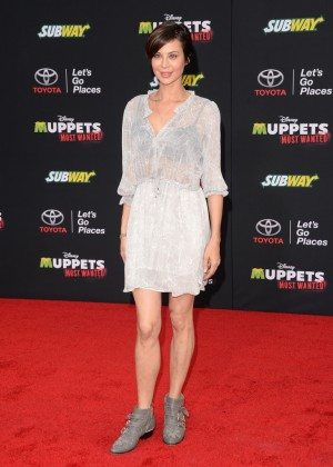 Catherine Bell: Muppets Most Wanted Premiere -09