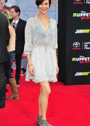 Catherine Bell: Muppets Most Wanted Premiere -12